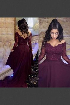 Two Piece Off-the-Shoulder Long Sleeves High Low Maroon Prom Dress with Appliques Prom Dresses Maroon, Prom Dresses Two Piece, Prom Dress, Prom Dresses With Appliques, High Low Prom Dresses Prom Dresses 2019 Prom Dresses Two Piece, Prom Dresses For Teens, Prom Dresses Long With Sleeves, A Line Prom Dresses, Dress Long, Long Dresses, Plus Size Prom Dresses, Tight Dresses, Maroon Prom Dress