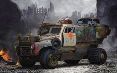 post apocalyptic vehicle by 5ofnovember.deviantart.com on @DeviantArt