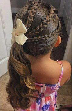 formidable suggestion coiffure petite fille mariage très esthétique
