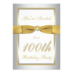 Silver and Gold 100th Birthday Invitation so please read the important details before your purchasing anyway here is the best buyReview Silver and Gold 100th Birthday Invitation Review from Associated Store with this Deal...