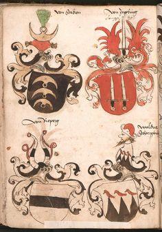 Wernigeroder (Schaffhausensches) Wappenbuch Süddeutschland, 4. Viertel 15. Jh. Cod.icon. 308 n Folio 118v