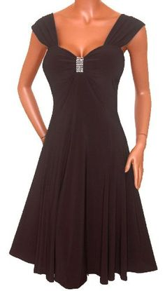 Great dress and great service!       #Black Wrap Bodice Empire waist plus size #Dress       http://amzn.to/HyEs2i