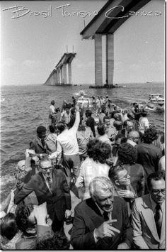 Ponte Rio-Niterói em construção