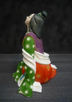 Hakata Doll Japanese Figurine Bijin Koikoite Yukiko Kawasaki H19CM | eBay