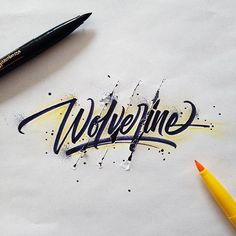 Gorgeous Calligraphic Logos Inspired By Popular Superheroes And Villains…