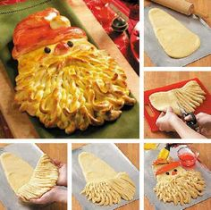 Golden Santa Bread Recipe + Tutorial + Perfect for your Holiday + Christmas Dinner + Party Table + Decor Holiday Treats, Christmas Treats, Holiday Recipes, Christmas Recipes, Christmas Diy, Father Christmas, Merry Christmas, Holiday Fun, Thanksgiving Holiday