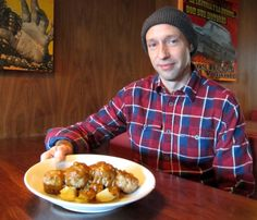 While he cooks Latin American–style dishes at El Camino's, chef Jason Carr favours comfort food at home, such as these German caper meatballs.