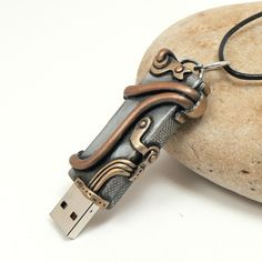 Steampunk USB Flashdrive by DesertRubble.deviantart.com on @DeviantArt