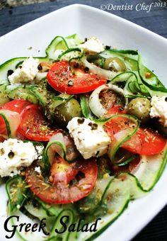 Greek Salad Cucumber Olive Salad Feta Cheese