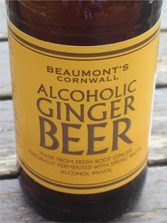 ginger beer of the alcoholic variety