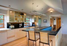 Trendy ideas open basement stairs in kitchen Open Basement Stairs, Stairs In Kitchen, Open Stairs, Kitchen Redo, Kitchen Living, Kitchen Ideas, Modern Basement, Open Kitchen, Kitchen Updates