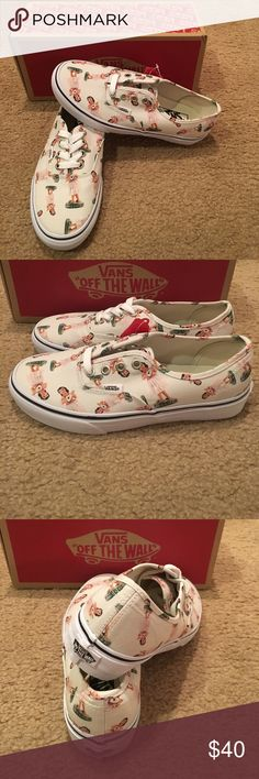 Vans Authentic Digi Hula Sneakers New in box. Classic/true white Vans Shoes Sneakers