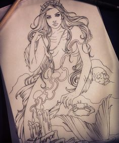 Starting this mermaid sleeve today! Can't wait!