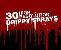 30 Photoshop Brushes: 'Drippy Sprays' | Webdesigner Depot