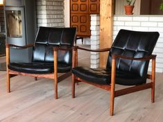 Retro lenestoler i palisander. Recliner, Accent Chairs, Lounge, Retro, Furniture, Home Decor, Chair, Upholstered Chairs, Airport Lounge