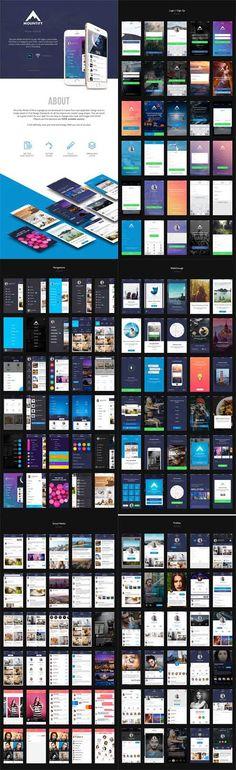 Mountify Mobile UI Kit Game Item, Ui Kit, Mobile Ui, Templates, Stencils, Vorlage, Models