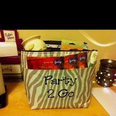 Scentsy anyone? Thirty Ones's thermal tote makes a great idea for your basket parties because the thermal keeps your scents from melting!