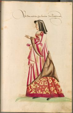 A woman of Colonna, c.1550-1575, from Costumes of men and women in Augsburg and Nuremberg, Germany, Europe, Orient and Africa