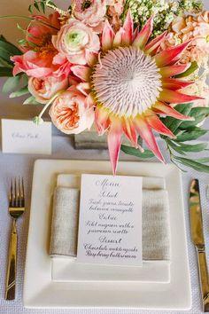 Pretty Protea Inspiration { Wedding Florals } - Modern Weddings Hawaii #inspiration #flowers #wedding