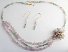 Aventurine, Moonstone, and Catseye Pendant Necklace by CMommyDesigns on Etsy https://www.etsy.com/listing/216371642/aventurine-moonstone-and-catseye-pendant