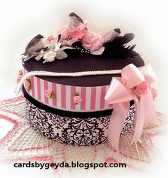 Geyda's Craft Creations: Dress Shop Vintage Victorian Hat Boxes And Fascinator Hat