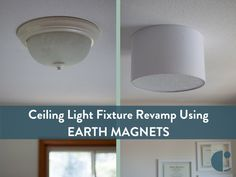 Upgrade a ceiling light with a drum shade for under 15 pinterest embracing simplicity diy ceiling light fixture revamp using earth magnets and a barrel shade aloadofball Gallery