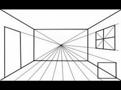 This video shows how to draw a room using one point perspective. This is an entry level introduction. To make it more interesting, try placing your vanishing point somewhere else instead of in the centre.  See another option here: http://www.youtube.com/watch?v=Xv1LFjApbKk    Skitch was used to draw the picture. SnapzPro was used to record the draw...