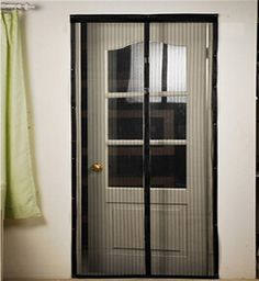 Screen doors screens and french door screens on pinterest for Mosquito net for french doors