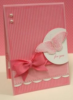 pink card - I can see this as a baby card...