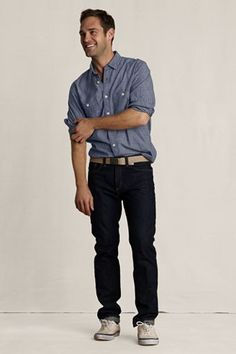 Zoom In  Zoom Out  Reset Display  Full Screen    Men's Heritage Striped Chambray Workshirt $12