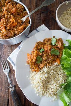 Vegan Vegetarian, Vegetarian Recipes, Paleo, Healthy Recipes, Healthy Food, Lentil Stew, Fried Rice, Low Carb, Meals