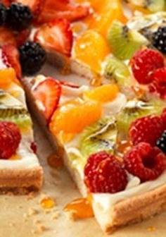 PHILADELPHIA Fruit Pizza  From a morning playdate to cocktail hour, this sweet recipe, made with a cookie dough crust and cream cheese center, is always the right thing to serve.
