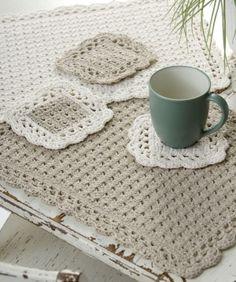 Options Placemat & Coaster Crochet Pattern by p.paula