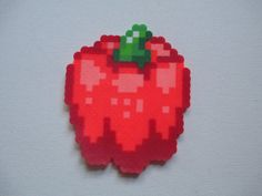 Items similar to Red Pepper Perler Bead Model on Etsy Fuse Bead Patterns, Beading Patterns, Food Patterns, Diy Perler Beads, Perler Bead Art, Peler Beads, Pixel Pattern, Iron Beads, Beaded Cross Stitch