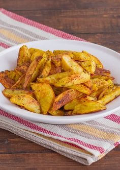 Crispy Indian Spiced Potato Wedges - plus learn the secret to making crispy potato wedges.