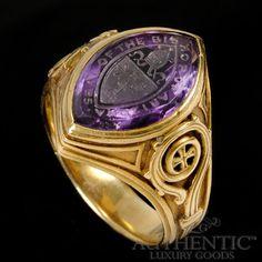 Tiffany & Co. 18K Yellow Gold 1926 Vintage Bishop Ring