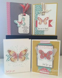 It's a Card Kit!  An assortment of gorgeous featuring the Watercolor Wings stamp set from Stampin' Up! by Kristin Kortonick