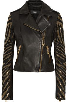 Versus Studded suede and leather jacket | THE OUTNET