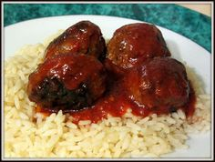 Meatball Recipes, Rice, Favorite Recipes, Beef, Chicken, Desserts, Portion, 20 Minutes, Food