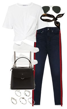 """Untitled #11265"" by nikka-phillips ❤ liked on Polyvore featuring Ray-Ban, T By Alexander Wang, adidas Originals, Fendi, Hermès and ASOS"