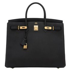 View this item and discover similar for sale at - Hermes Black Togo Birkin Gold Hardware GHW Power Birkin Brand New in Box. Pristine Condition (with plastic on hardware). Just purchased Sac Birkin Hermes, Hermes Bags, Hermes Handbags, Handbags On Sale, Black Handbags, Black Birkin Bag, Hermes Store, Hermes Purse, Luxury Bags