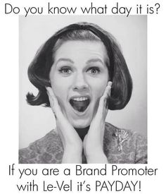 Promote with Le-Vel!!! We pay top commissions every Tuesday!  http://stacieposey.Le-Vel.com