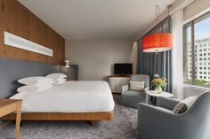 The Accesible Guest Room in Hilton Rotterdam.