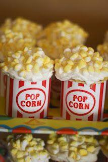 Popcorn cupcakes tutorial