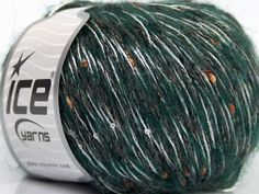 Fiber Content 30% Viscose 28% Acrylic 25% Mohair 2% Paillette 15% Wool White Brand Ice Yarns Grey Green fnt2-44058