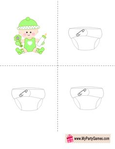 Free Printable Who got the Baby Game in Green Color