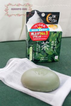 "✿ღ Queen's Eye ღ✿: [Sponsored] COWSTYLE Shizen Gokochi Facial Soap ""Green Tea"" (自然ごこち ""茶"")"