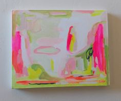 pink abstract painting art pink abstract neon colors by pamelam