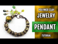 DIY How to make the bracelet with imitation of carved wood beads! Polymer Clay. VIDEO Tutorial! - YouTube