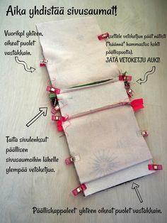 DIY: Pussukka tuplavetoketjulla - Punatukka ja kaksi karhua Sewing Hacks, Sewing Projects, Pencil Case Tutorial, Bra Hacks, Diy Wallet, Handmade Purses, How To Make Handbags, Fabric Crafts, Couture